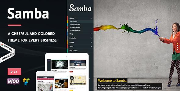 Samba v7.0 — Colored WordPress Theme