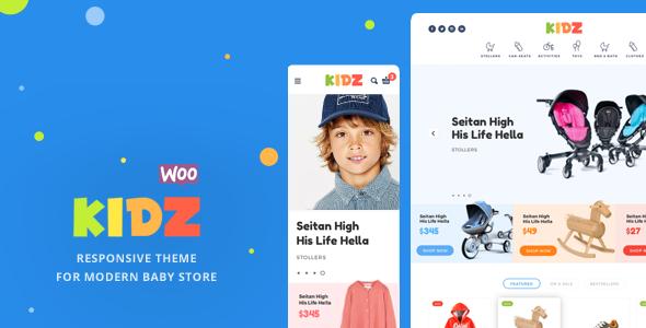 KIDZ v2.2.1 — Baby Store WooCommerce Theme