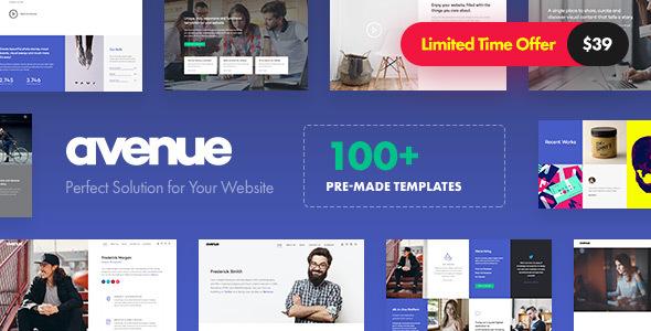 Avenue v1.2 — Creative Multi-Purpose WordPress Theme