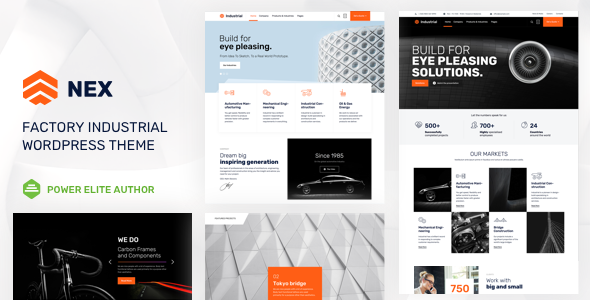 Nex v3.1 — Factory & Industrial WordPress