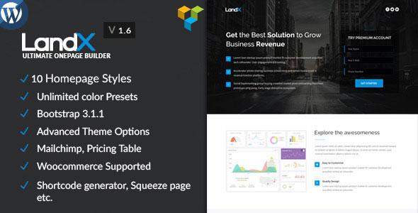 LandX v1.6.7 — Multipurpose WordPress Landing Page
