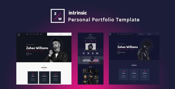 Intrinsic — Creative Personal Portfolio HTML5 Template