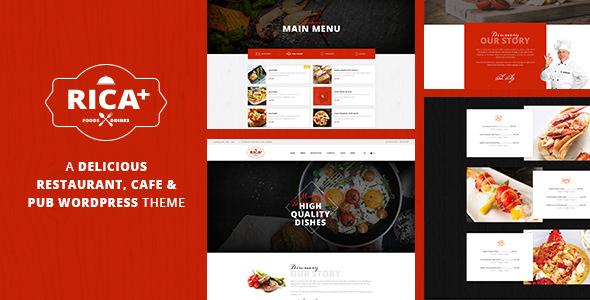 Rica Plus v1.7 — A Delicious Restaurant, Cafe & Pub WP Theme