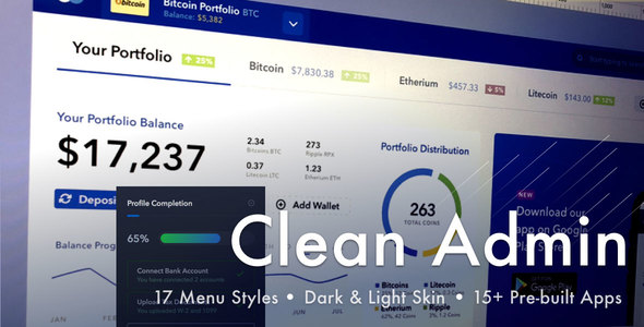 Light Admin — Clean Bootstrap 4 Dashboard HTML Template with Crypto