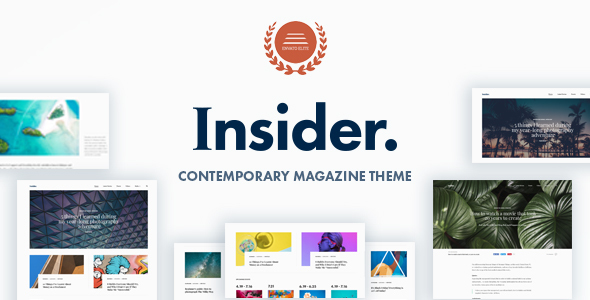 Insider v1.2 — Contemporary Magazine and Blogging Theme