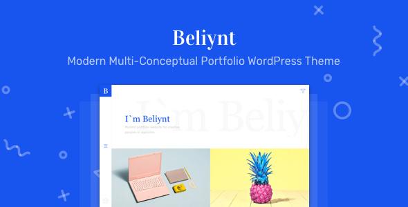 Beliynt Lite v1.0.2 — Modern Multi-Conceptual Portfolio Theme