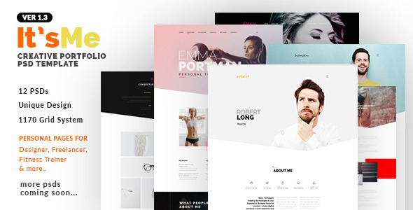 It'sMe v1.3 — Creative Portfolio PSD Template