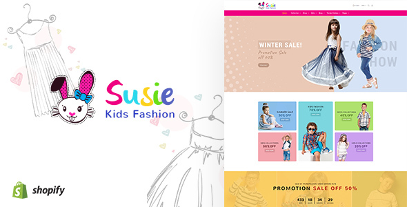 Susie v1.1 — Kids Fashion Sectioned Shopify Theme
