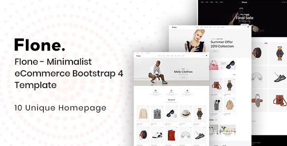Flone — Minimalist eCommerce Bootstrap 4 Template