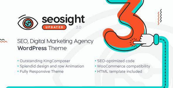 Seosight v3.3.1 — SEO Digital Marketing Agency Theme with Shop