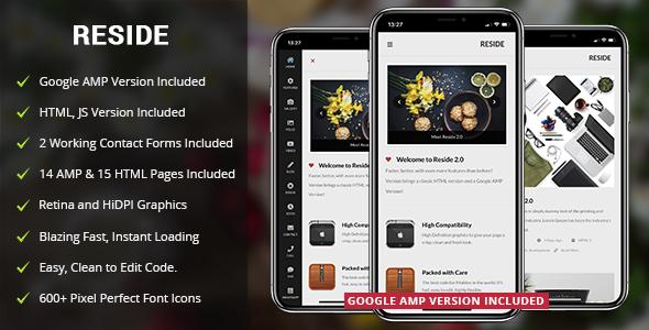 Reside Mobile v2.0 — Mobile Template