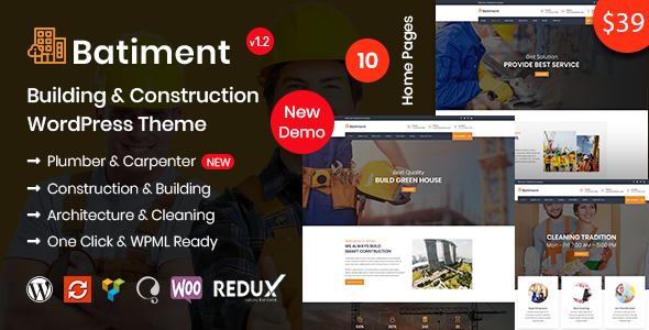 Batiment v1.1 — Construction & Building WordPress Theme