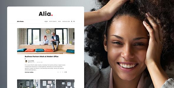 Alia v1.3.6 — Minimal Personal Blog