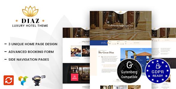 Hotel Diaz v1.3 — Hotel Booking Theme