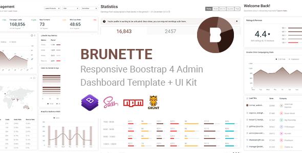 Brunette — Responsive Bootstrap 4 Admin & Powerful UI Kit