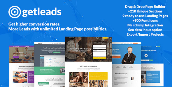 Getleads v1.5.5 — Landing Page Pack with Page Builder