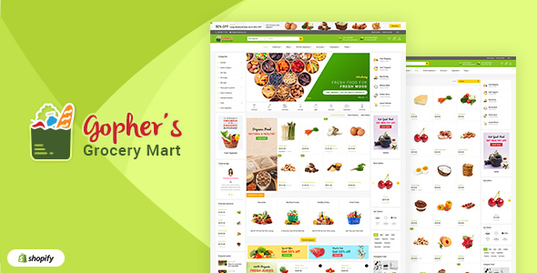 Gopher's v1.1 — Grocery, Shopping Centre Shopify Theme