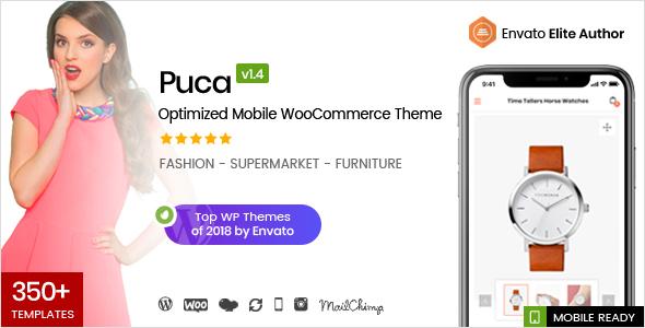 Puca v1.4.2 — Optimized Mobile WooCommerce Theme