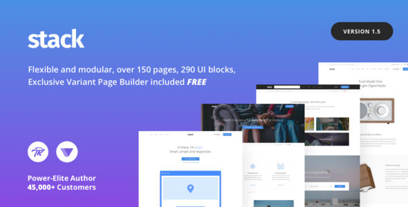 Stack v10.5.13 — Multi-Purpose Theme with Variant Page Builder