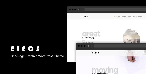 Eleos v1.3.2 — One-Page Creative WordPress Theme