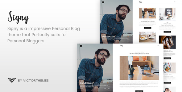 Signy v1.5 — A Personal Blog WordPress Theme