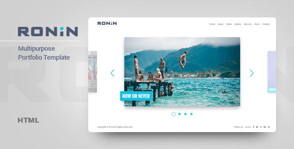Ronin v1.1 — Multipurpose Portfolio Template