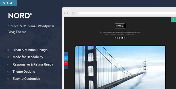 Nord v1.3 — Simple, Minimal and Clean WordPress