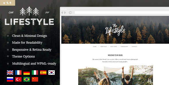 The Lifestyle v1.1.5 — Vintage, Minimal and Simple Theme