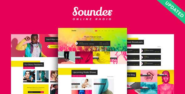 Sounder v1.0.1 — Online Radio WordPress Theme