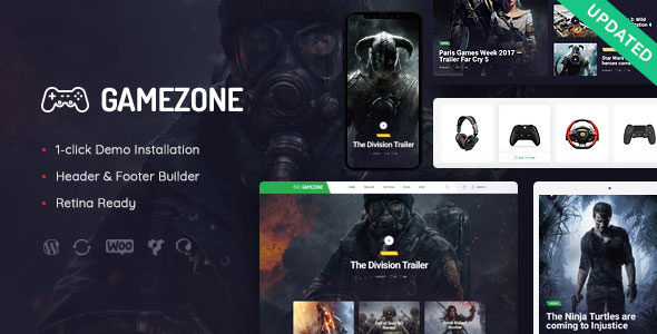 Gamezone v1.0 — Gaming Blog & Store WordPress Theme