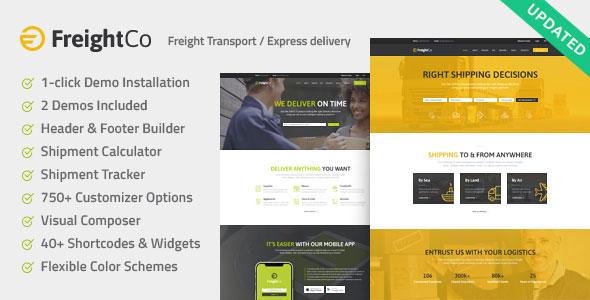 FreightCo v1.1 — Transportation & Warehousing Theme