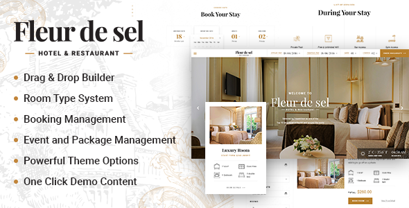 Fleurdesel v2.0.4 — Hotel Booking WordPress Theme