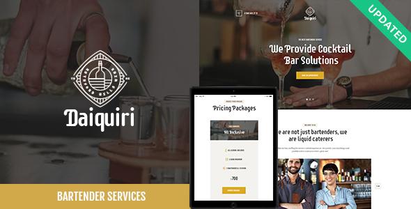 Daiquiri v1.0 — Bartender Services & Catering Theme