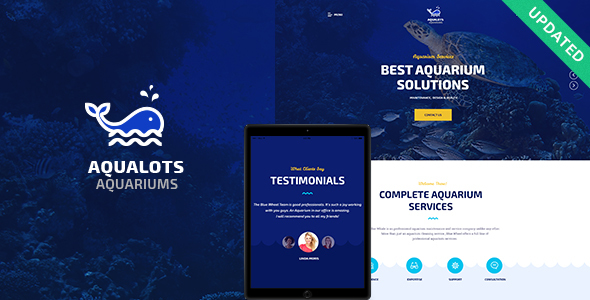 Aqualots v1.0 — Aquarium Services WordPress Theme