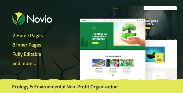 Novio — Ecology & Environmental Non-Profit Organization PSD Template