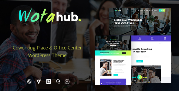 WotaHub v1.0.2 — Coworking Space WordPress Theme