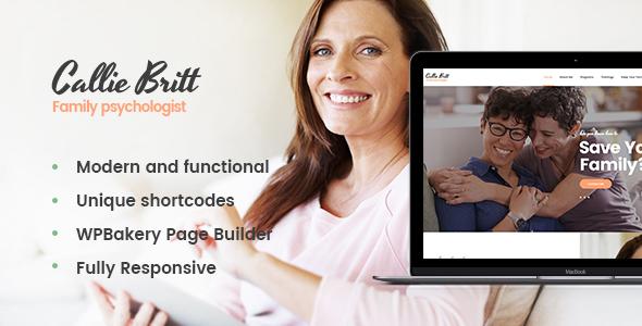 Callie Britt v1.0 — Family Counselling Psychology Theme
