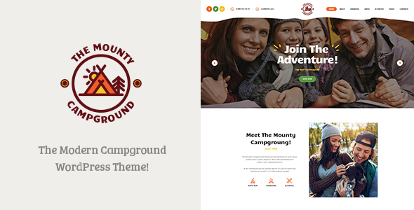 The Mounty v1.1 — Campground & Camping WordPress Theme