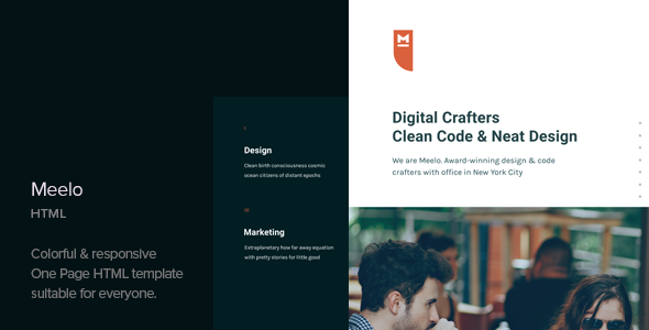 Meelo — Corporate One Page HTML Template