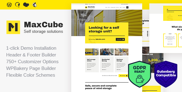 MaxCube v1.1 — Self Storage Business WordPress Theme