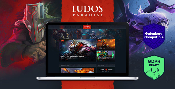 Ludos Paradise v1.0 — Gaming Blog & Clan WordPress Theme