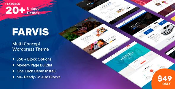 Farvis v1.2.8 — Multipurpose WordPress Theme