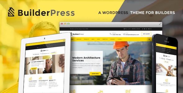 BuilderPress v1.1.0 — WordPress Theme for Construction