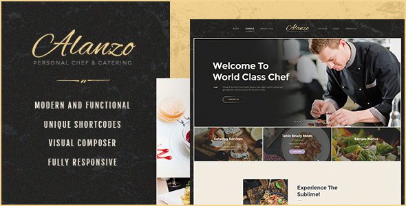 Alanzo v1.0 — Personal Chef & Catering WordPress Theme
