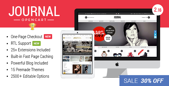 Journal v3.0.22 — Advanced Opencart Theme