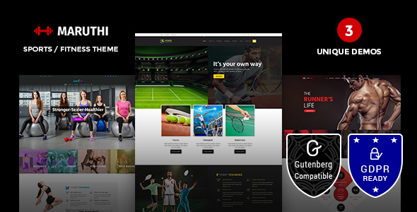 Maruthi Fitness v1.3 — Fitness Center WordPress Theme