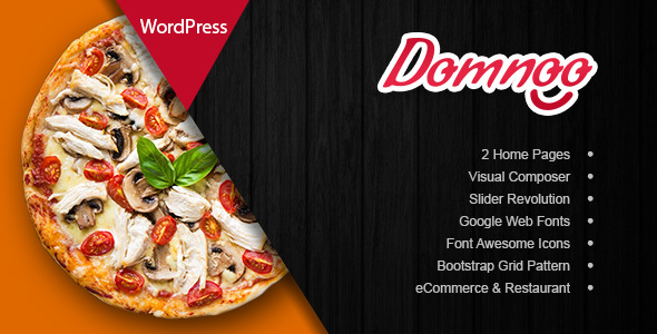 Domnoo v1.6 — Pizza & Restaurant WordPress Theme