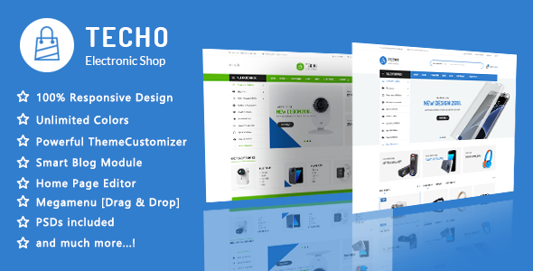Techo — Minimalist Shopping Electronics Responsive PrestaShop 1.7 Theme