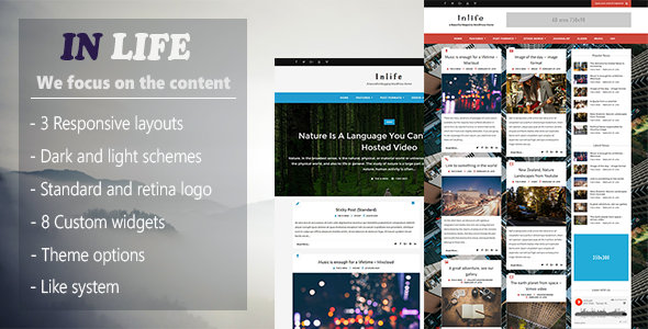 InLife v1.4.1 — Simple & Flexible Blog/Magazine