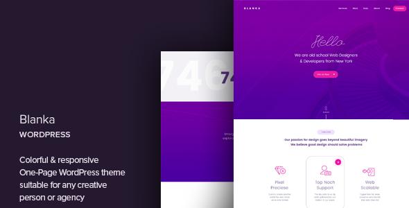 Blanka v1.2 — One Page WordPress Theme